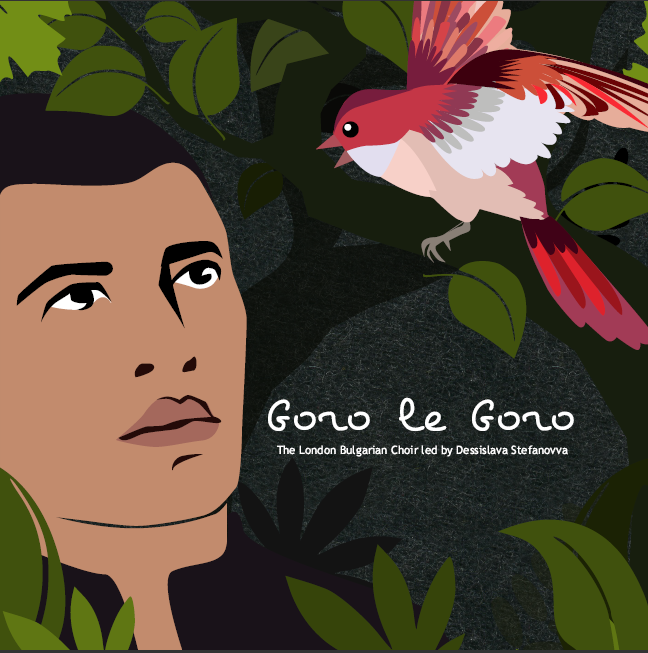 first version of the cd artwork for Goro le Goro - the second album by the London Bulgarian Choir. Designed by Jay Alvarez